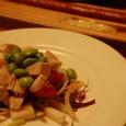 蒸し鶏とトマトのサラダ