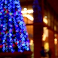 クリスマスツリー 福井西武をバックに